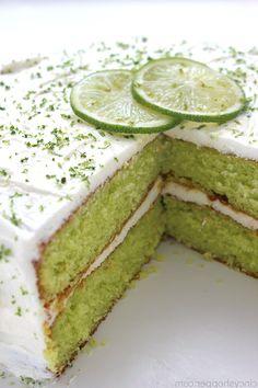Easy Lime Cake - Susan Recipes Susan Recipe, 9 Inch Cake Pan, Lime Cake, Lemon Cake Mixes, Soften Cream Cheese, Corn Bread, Pound Cake, Cake Pans, Fun Desserts