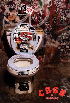 CBGB Bathroom Poster, Toilet, Punk, New York City in Art, Art from Dealers & Resellers, Posters | eBay
