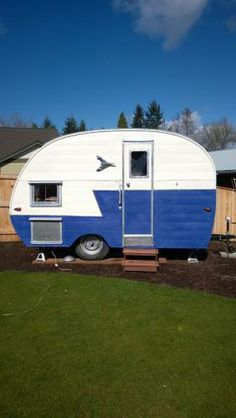 Vintage Canned Ham Camp Trailer $4995