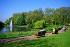 Green park London, beautiful on a sunny day