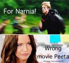 """I don't normally pin things that """"mock"""" Peeta or the hunger ganess. but this is funny"""