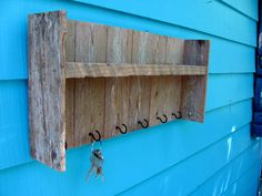 Recycled Wood Shelf key rack shelf made of by JohnBirdsong on Etsy