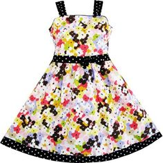 Girls Dress Multicolored Flower Children Clothing SZ 4-5 NWT Sunny Fashion, http://www.amazon.com/dp/B00960XHAA/ref=cm_sw_r_pi_dp_ySlNqb0DS9D5A