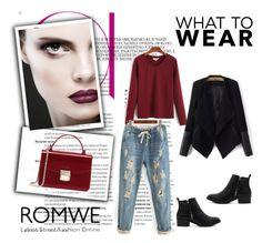"""""""Romwe 1/XI"""" by nermina-okanovic ❤ liked on Polyvore featuring romwe"""