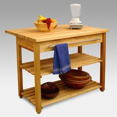 Have to have it. Contemporary Harvest Table Drop Leaf Kitchen Island $990