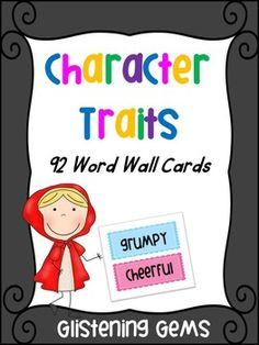 Character Trait Word Wall Cards - 92 brightly coloured (pink and blue) cards to display on your bulletin board.Great to use for: Literacy Centers, reading and writing activites, word work.How to use cards in class: Display on bulletin board in class where students can visibly see the cards whilst writing.