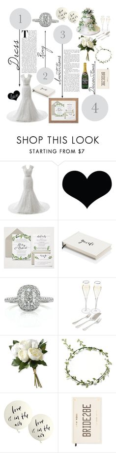 """♡Lace Wedding Dress♡"" by bashful-beauty ❤ liked on Polyvore featuring Brika, Kate Spade, Ultimate, Mark Broumand, Cathy's Concepts and National Tree Company"