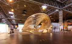 'Small #Project' nominee: The Twist at the #Timber Expo 2015 by the #Architectural Association -  #WoodAwards reveal 2016 #shortlist   Wallpaper*
