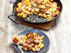 Gnocchi mit Schinkenwurst und Mozzarella |
