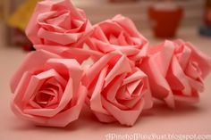How to DIY Easy Paper Roses