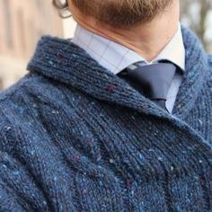 Oh, handsome cabled sweater