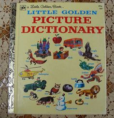 1976 Little Golden Book Picture Dictionary