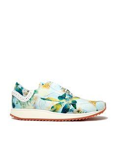 Imagen 1 de Zapatillas de deporte de flores en azul Molly 1 de Swear