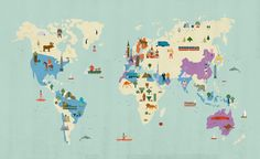 This map is so cute! I want to frame it and hang it in my home!