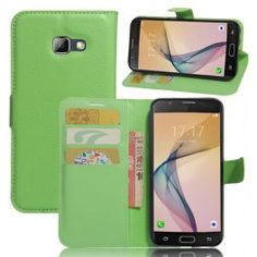 Litchi Grain Leather Wallet Stand Flip Case for Samsung Galaxy - Green Galaxy A5, Samsung Galaxy, Mobiles, Android, Galaxies, Leather Wallet, Iphone, Green