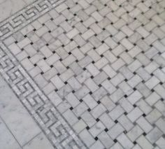 i like the basket weave marble for the powder room too