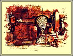 Sewing Machine Jones 1920s Print by BloominLuvly on Etsy