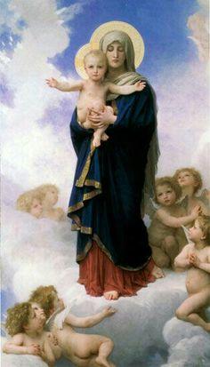 Jesús se ofrece desde las manos virginales de Maria.