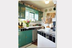 Turquoise in the kitchen