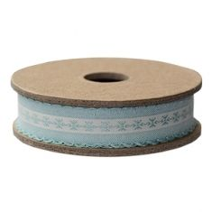 RIBBON LIGHT BLUE EMBROIDERED