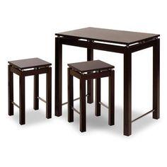 Andover Mills Linea Bar Table Set