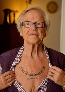 Tattoo against reanimation! She is 91