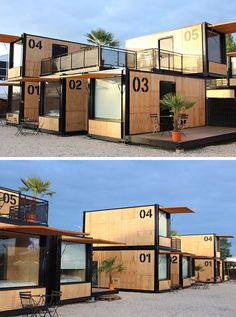 The Flying Nest, a nomadic concept hotel designed by Ora ïto for Accor, uses shipping containers to easily create hotel rooms. Build your own shipping container home! Container Hotel, Container Restaurant, Container Cafe, Cargo Container Homes, Container Buildings, Container Architecture, Container House Plans, Container House Design, Hotel Design Architecture