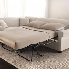 sears clearwater sofa sectional leather jack knife rv iron bed with left hand facing chaise - costco $1600 ...