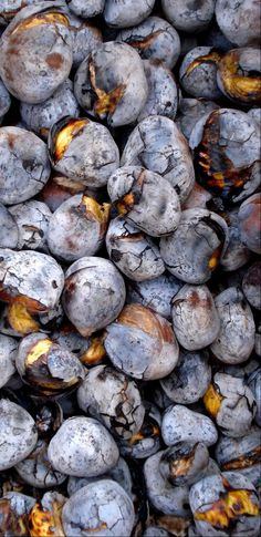 Traditional Roasted chestnuts, sold in the streets of Portugal Spain And Portugal, Portugal Travel, Lisbon Portugal, Portuguese Desserts, Portuguese Recipes, Portuguese Food, Azores, Wine Recipes, Great Recipes
