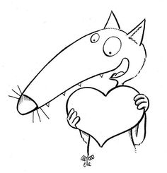 Crafts For Kids, Arts And Crafts, Art Education, Wolf, Clip Art, Valentines, Symbols, Letters, Animals