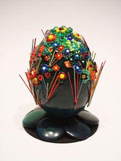 Hen eggshell, glass elements on acrylic green background Eggshell, Glass Garden, Green Backgrounds, Golden Goose, Self, Egg Shell