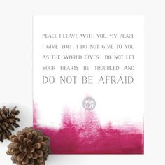 """Encouragement Art to share or to display in your home or office. Each verse was carefully chosen to encourage and elevate our spirits.  These beautiful 8x10"""" prints created with calm, earthy colors make thoughtful gifts for friends who need a message of encouragement or as beautiful reminders throughout your own home.  Printed on acid-free and archival heavy-weight stock."""