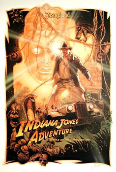 Drew Struzan talks about painting the poster for the Disneyland ride Indiana Jones Adventure: Temple of the Forbidden Eye. Description from fromdirectorstevenspielberg.tumblr.com. I searched for this on bing.com/images