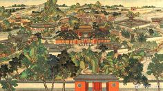 Garden of Great View, illustration for classic Chinese novel Dream in the Red Chamber https://plus.google.com/b/115147731765983068323/+Simplifyyourlifepluschina/posts/TCy7jHZMsMS?utm_content=bufferc881a&utm_medium=social&utm_source=pinterest.com&utm_campaign=buffer