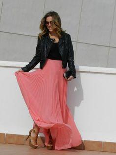 Pink Maxi Skirt