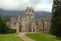 Ardverikie House, on the far shore of Loch Laggan, Scotland.