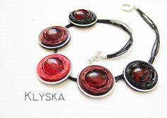 Rot braun Halskette von Klyska auf Etsy, €25.00