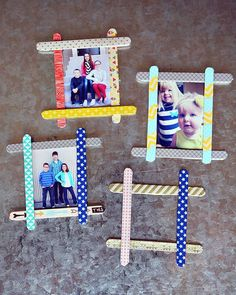 DIY Popsicle Stick Frames - 101 Mothers Day Gifts and Craft Ideas to DIY This Weekend - DIY & Crafts
