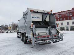 Refuse Truck NTM KG2B-HL SCANIA, Śmieciarka dwukomorowa do zbiórki dwóch frakcji odpadów jednocześnie NTM KG-2B-HL na podwoziu Scania