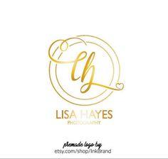 PREMADE LOGO, Logo Design, Graphic Design, Wordmark, Branding, Business Identity, Custom Logo, Typography, WATERCOLOR, Rose Gold, Gold