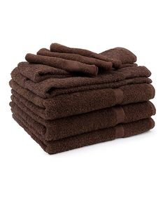 Another great find on #zulily! Dark Chocolate Soft Touch Towel Set by Cambridge Towel #zulilyfinds