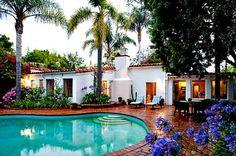 Marilyn Monroe's swimming pool 1962 Brentwood Calif.