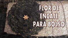 DIY FLOR DE ENCAJE PARA VESTIDO O BOLSO