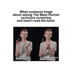 the maze runner funny moments - Google Search