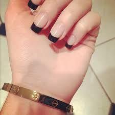 black tip nails tumblr - photo #8