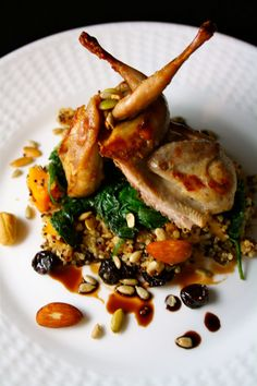 Autumn Harvest Quail recipe - Foodista.com - this looks delicious.  A must try!