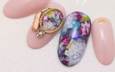 Fancy floral nail design from Japan