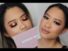 SUNSET EYES w/ ABH Modern Renaissance Palette - YouTube