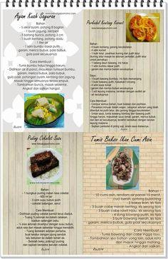 Ayam kuah sayuran, perkedel kentang kornet, pudding cokelat susu, tumis bakso ikan cumi asin Atkins Diet, Asian Recipes, Meal Prep, Food And Drink, Menu, Cooking Recipes, Atkins Meal Plan, Menu Board Design, Cooker Recipes