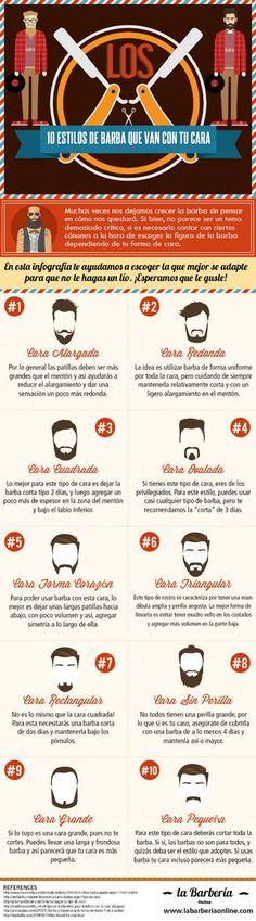 10 estilos de bárba que van con tu cara – InfografiaInfografia - Las mejores infografias de Internet   Infografia - Las mejores infografias de Internet